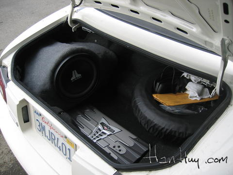 this is the sub box installed in the trunk of my miata.